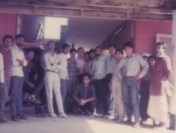 Before leaving Swedish hostel for ever in 1988.