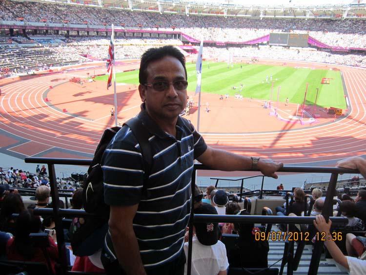Shaheen at  London Olympic Stadium in 2012