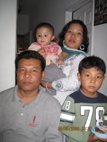 Bipon (Batch-28, Automobile) with his Family in USA on 2009