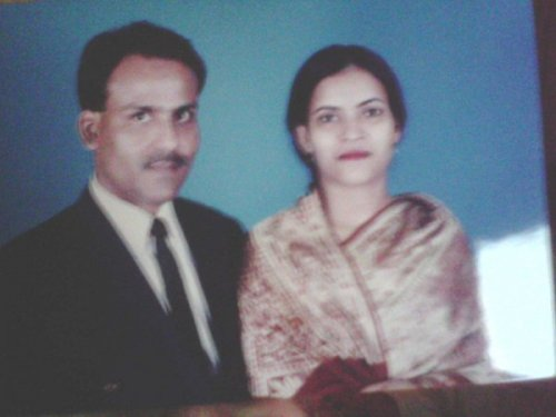 Murad (Batch-11, wood) with his wife