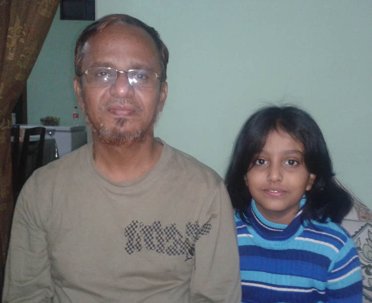 Saifu (16 Batch-Civil) with his  daughter on Nov'2012