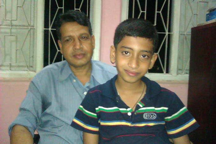 Sayed (Batch-16, Civil) with his son on 2012