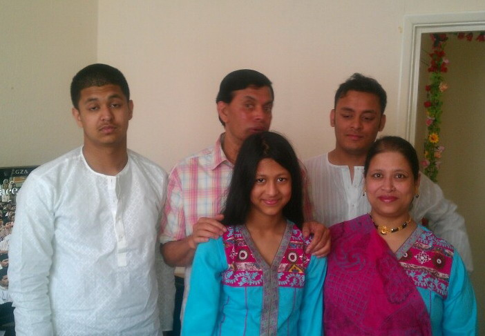 Siraj (Batch:15, Auto) with his Family at London on Jan, 2013