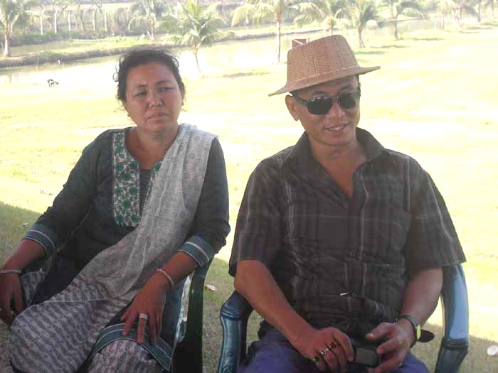 Thowai (Batch-16) with his wife -Feb'2012
