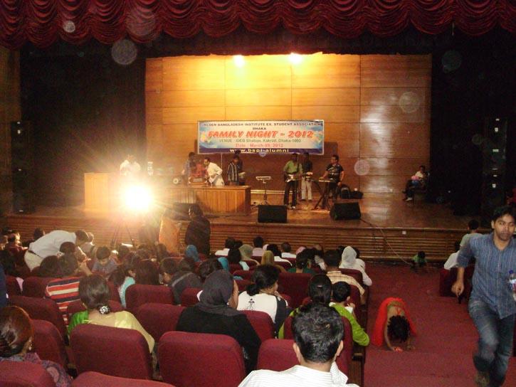 Cultural program at main dais of  auditorium