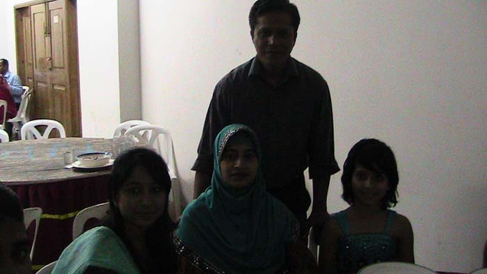 Nazrul(19-wood) with his family at Family night