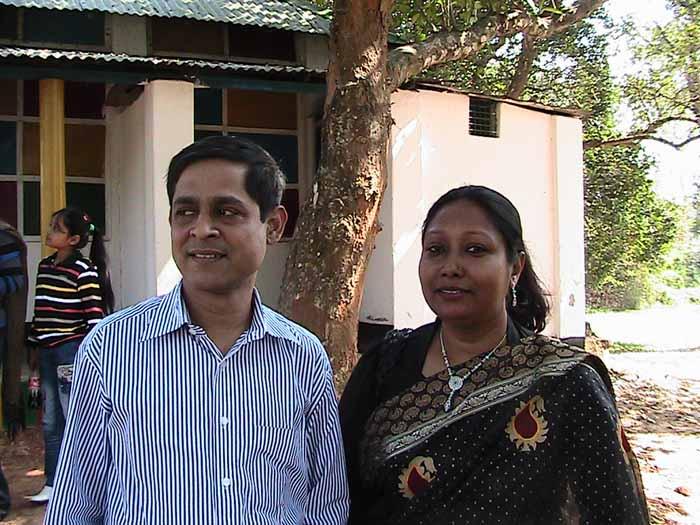 Chumki  with her husband