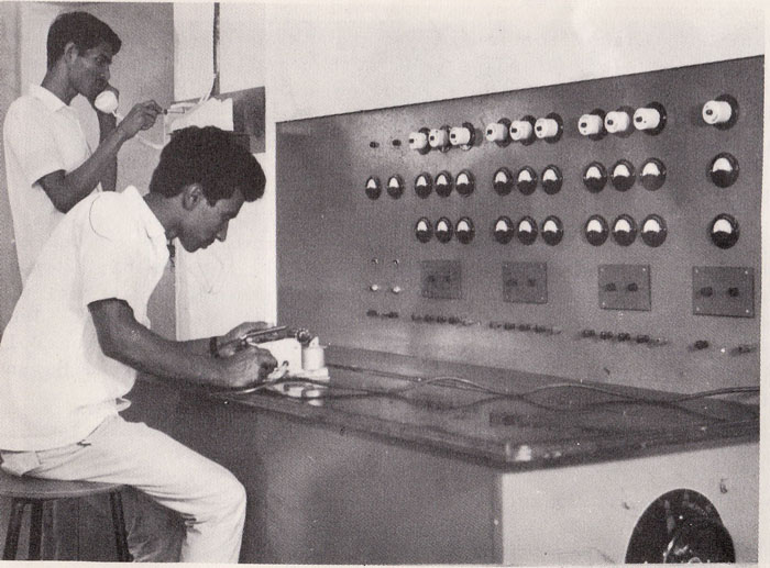 Student in the practical class of Electrical Department