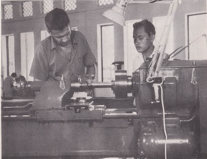 Student in the practical class of Mechineshop dept-1