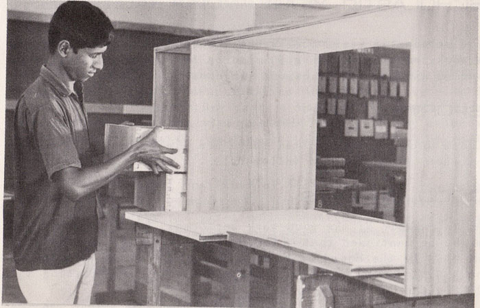 Student in the practical class of Wood dept
