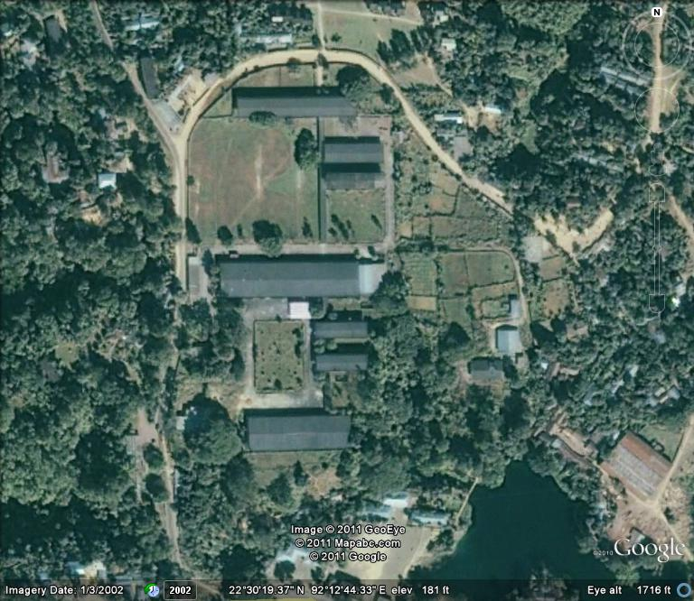 Satellite picture of our  Campus at Kaptai