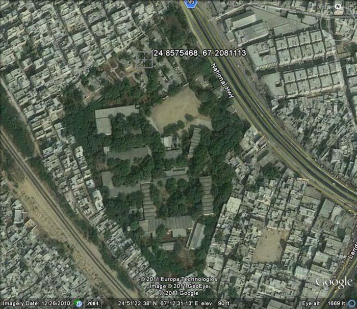 Satellite Picture of Swedish Pakistani Institute at Karachi, Pakistan