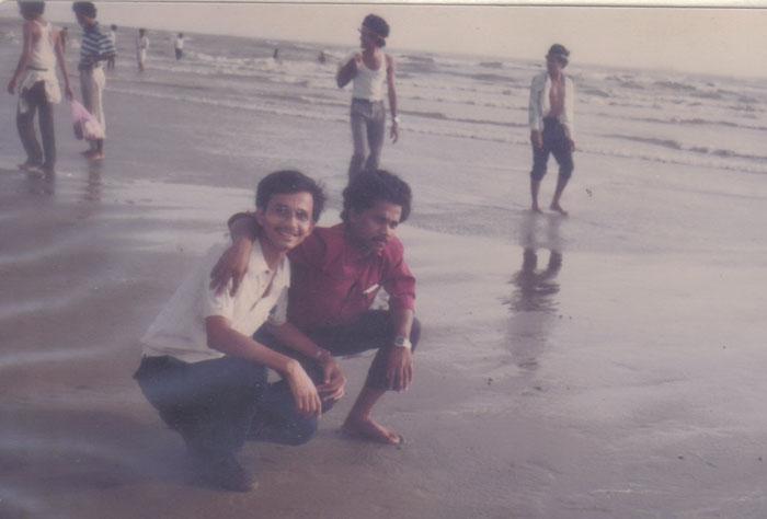 Opu,Salim Abdullah(16 Batch) and others at Sea beach