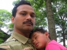 Kauser (Batch-17,CIVIL) with his daughter in USA