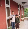 Opu(batch-16, Automobile) with his son at Swedish Hostel-2010