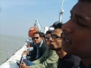 Some young Alumni enjoy the sea tour